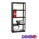 Boltless office shelving systems with 3 shelf levels or 4 and 5 shelves made in the UK