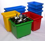 Plastic Container Bottle Skips bottle trolley trucks plastic bins on wheels