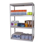 Light Industrial Zamba Shelving, Adjustable Galvanised or Painted