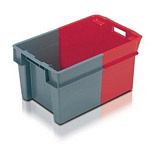 Stack & Nest Containers Plastic Bale Arm Crates and Nestable 180 Totes