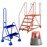 Mobile Safety Steps | Warehouse Ladders | Llibrary Steps | Platform Steps