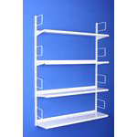 TwinSlot Shelving DIY Ironmongery Wall Mounted  screw fixed uprights &  brackets